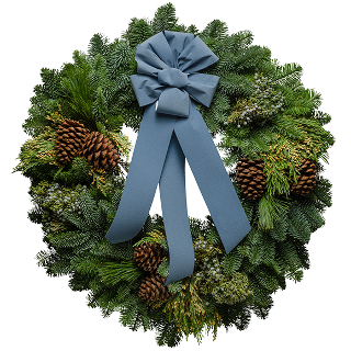 Blue Glacier Christmas Wreath