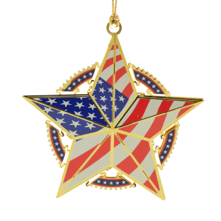 Americana Star Ornament