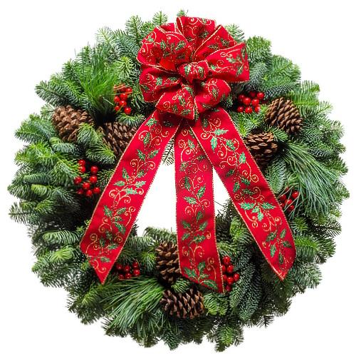Holly Classic Christmas Wreath